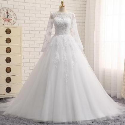 Vintage White Lace Wedding Dresses,..