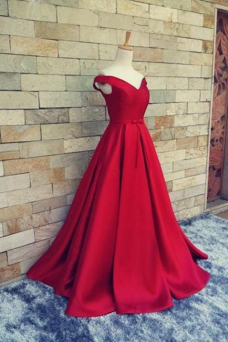 Off The Shoulder Long Dark Red Prom Dress, Sexy V Neck Cap Sleeve Evening Dress, Long Formal Evening Dress 2017,,Pageant Women Party Dress , Sexy V Back Corest Long Prom Party Dress, Sexy Off The Shoulder Satin Celebrity Dress, A Line Floor Length Prom Dress 2017, Plus Size Evening Prom Dresses Customize,