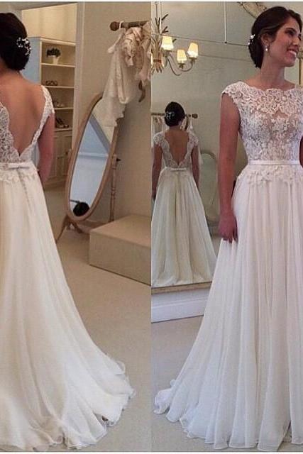 Vintage Lace Ivory Wedding Dresses, 2017 Customize Long Wedding Bridal Gowns, Top Quality A Line Brides Dresses 2017, Cheap China Lace Wedding Dress, Vestidos De Novia,Jewel Neck Cap Sleeve Bride Dresses With Sash,